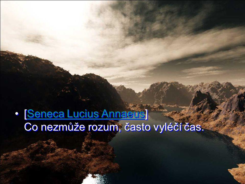 [Seneca Lucius Annaeus] Co nezmůže rozum, často vyléčí čas.